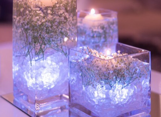 Floating Candles Centrepiece