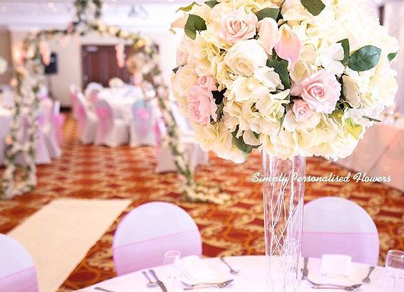Rose Hydrangea Centrepiece