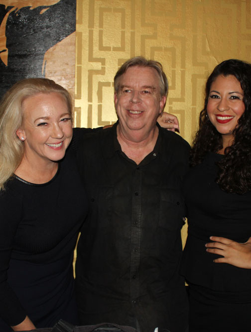 Michelle Arthur with Associate Producer/Actor/Graphic Designer Jeff Vernon and Actress Jacqueline Bustamante