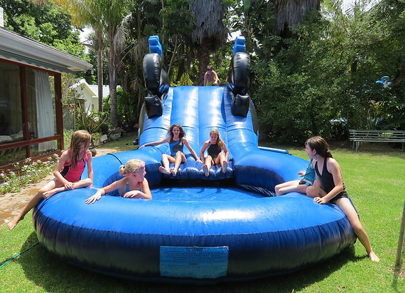 Long Whale Slide with Huge Pond