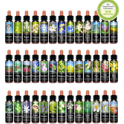 Bach Flowers Remedies Natural Therapy Consultation & mix flowers bottle 30ml