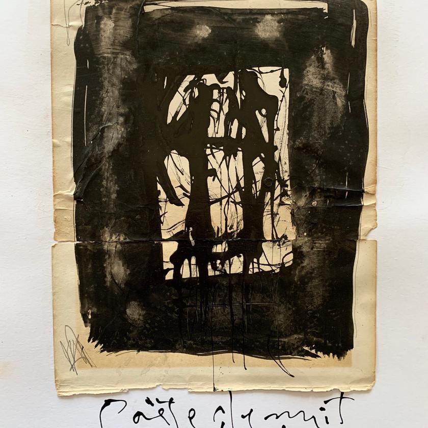 Gabriel Lalonde, Poète de nuit, 34,75 x 28 cm