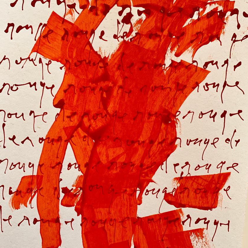 Gabriel Lalonde, Rouge de Rouge, 31 x 23 cm