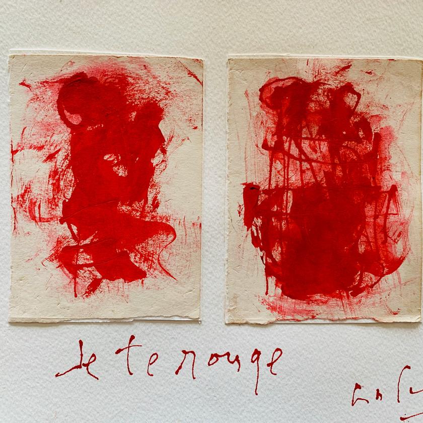 Gabriel Lalonde, je te rouge, 23 x 31 cm.