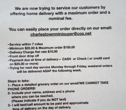 Home Delivery starting from Charlestown Mini Super! (updated)