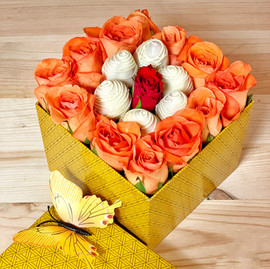 "Boîte ""Sweet roses"""