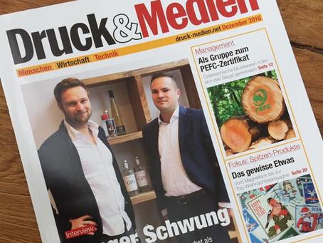 Druck & Medien: Der Junge Schwung als Titelstory!