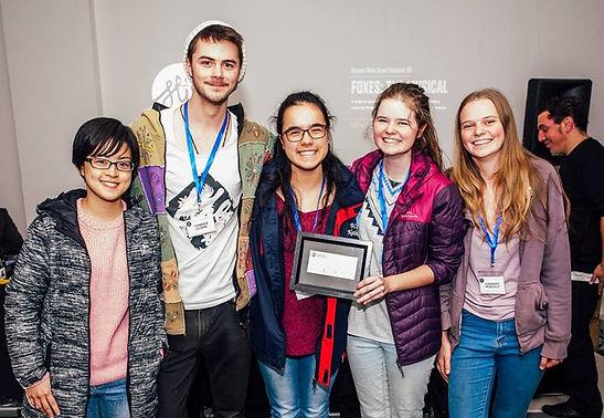Ribix Productions representatives winning StirXP grant