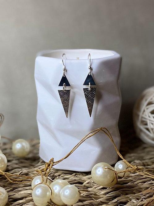 Boucles d'oreilles triangles japonais