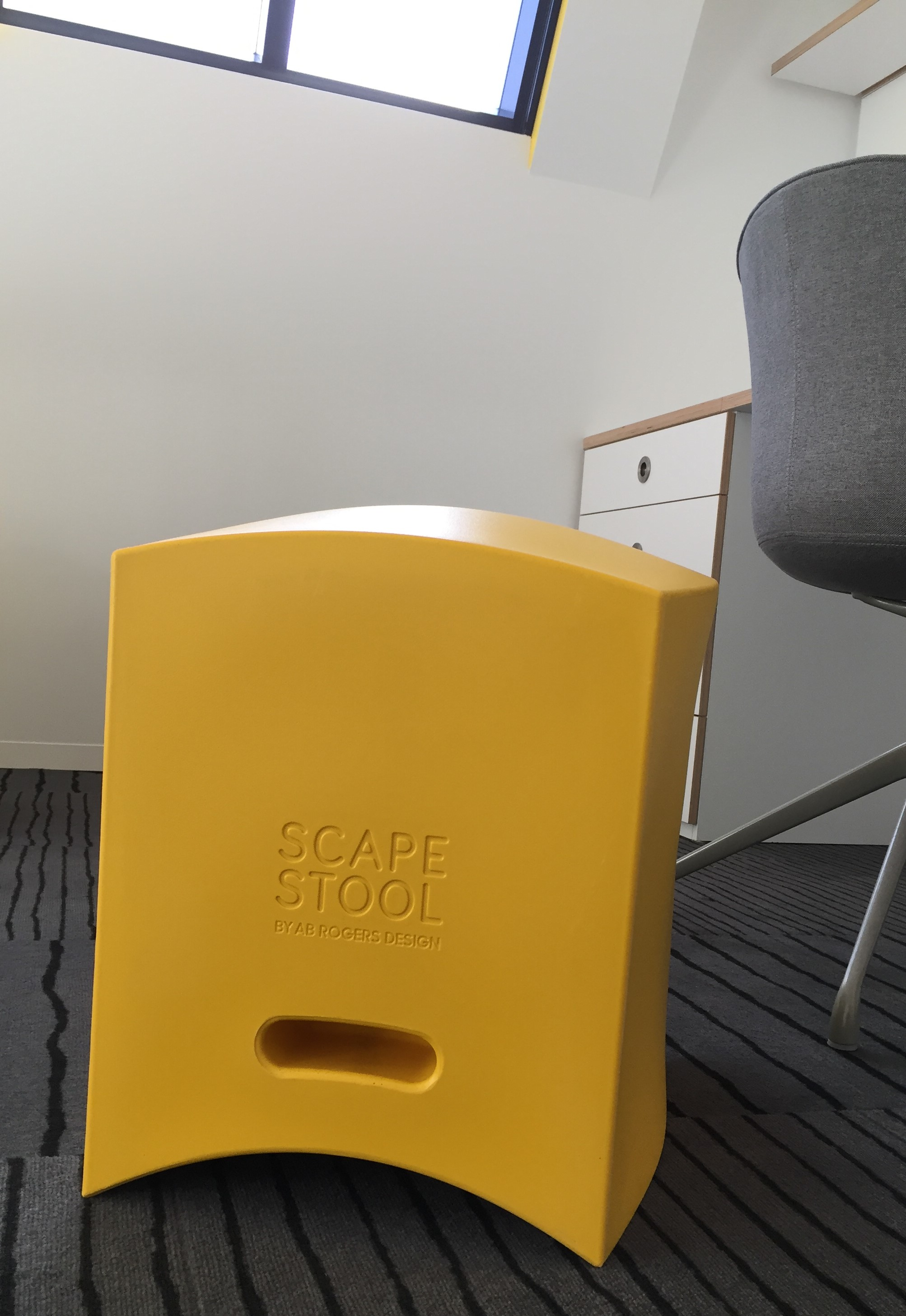 Scape Abercrombie St_Scape Stool by AB Rogers Yellow