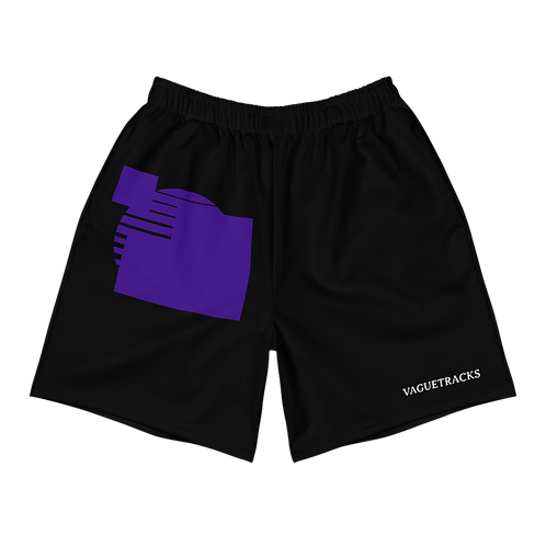PURPLE LOGO BLACK SHORTS