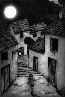 No salgas de noche dibujo 1