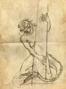 Dagón boceto definitivo.