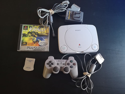 PlayStation One slim White + Controller+ Memory card + game