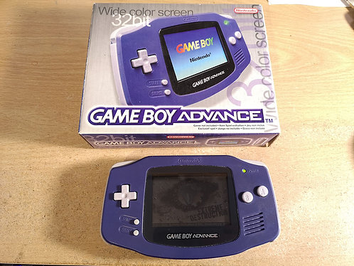GameBoy Advance Purple Boxed + game