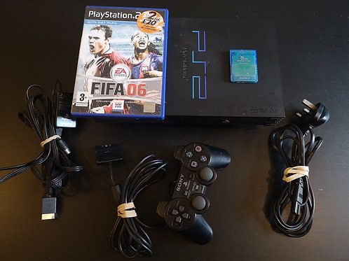 PlayStation 2 + Controller+ Memory card + game