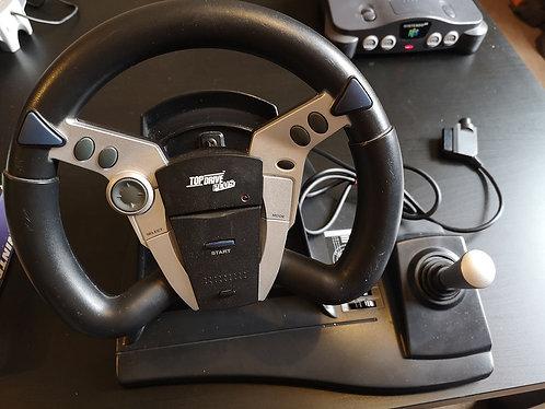 Steering Wheel Top Drive Plus Logic 3 N64 & PS1
