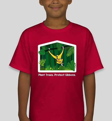 Plant Trees. Protect Gibbons. Youth Tee