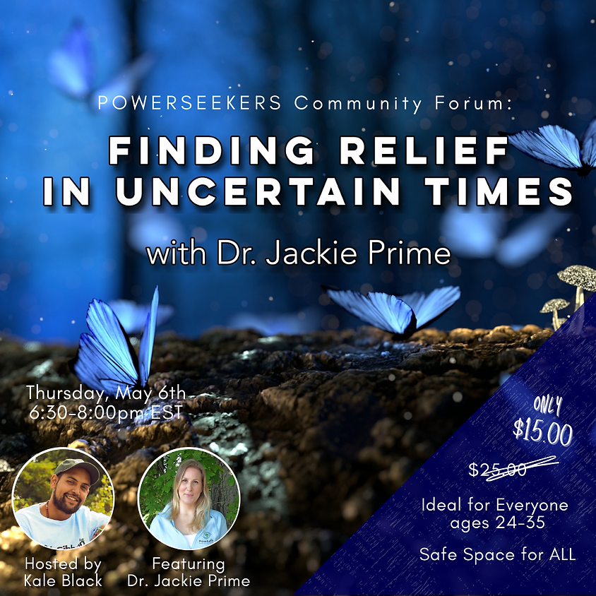 Finding Relief in Uncertain Times (For Young Adults Ages 16-23)