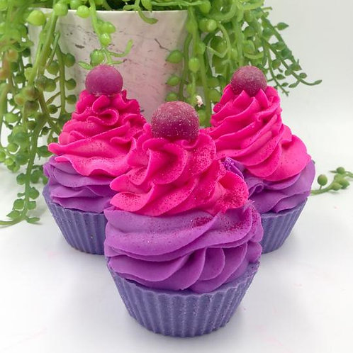 Artisan Cupcake Soap - Black Raspberry Vanilla