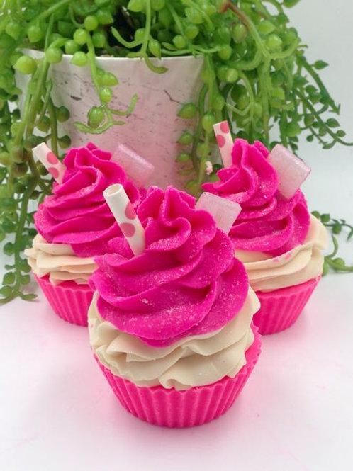 Artisan Cupcake Soap - Strawberry Milkshake