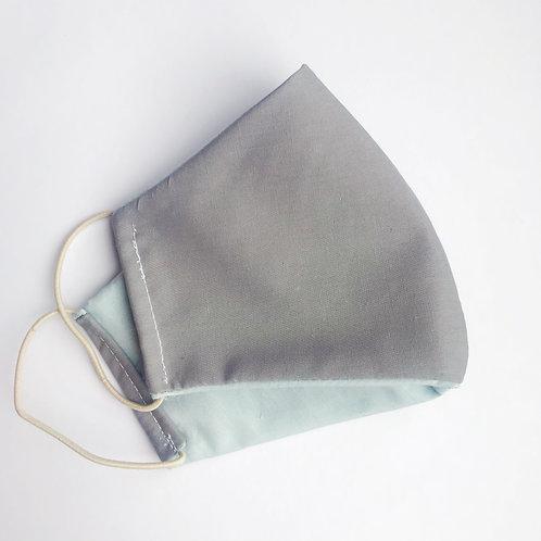Face mask - Grey/Pale blue