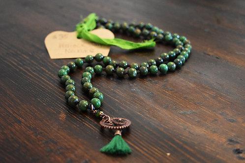 GlitterZen PEACOCK JASPER Necklace