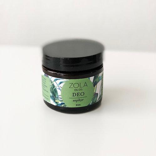 Zola Natural Deodorant - Zephyr