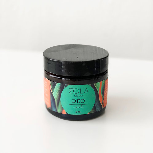 Zola Natural Deodorant - Earth