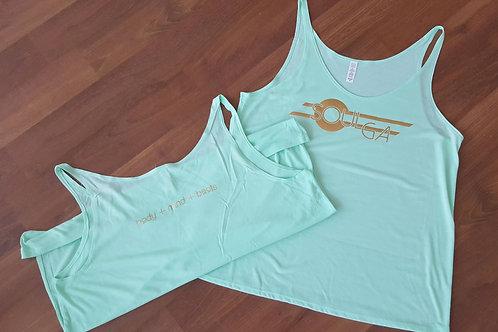 Women's Soulga CO T Shirt - Mint/Gold Foil