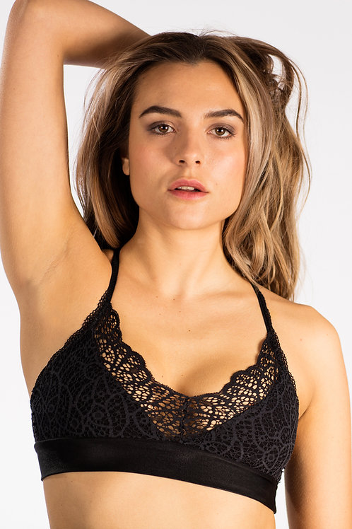 Harmonica Onyx Infinity Eco-Friendly Lace Bralette