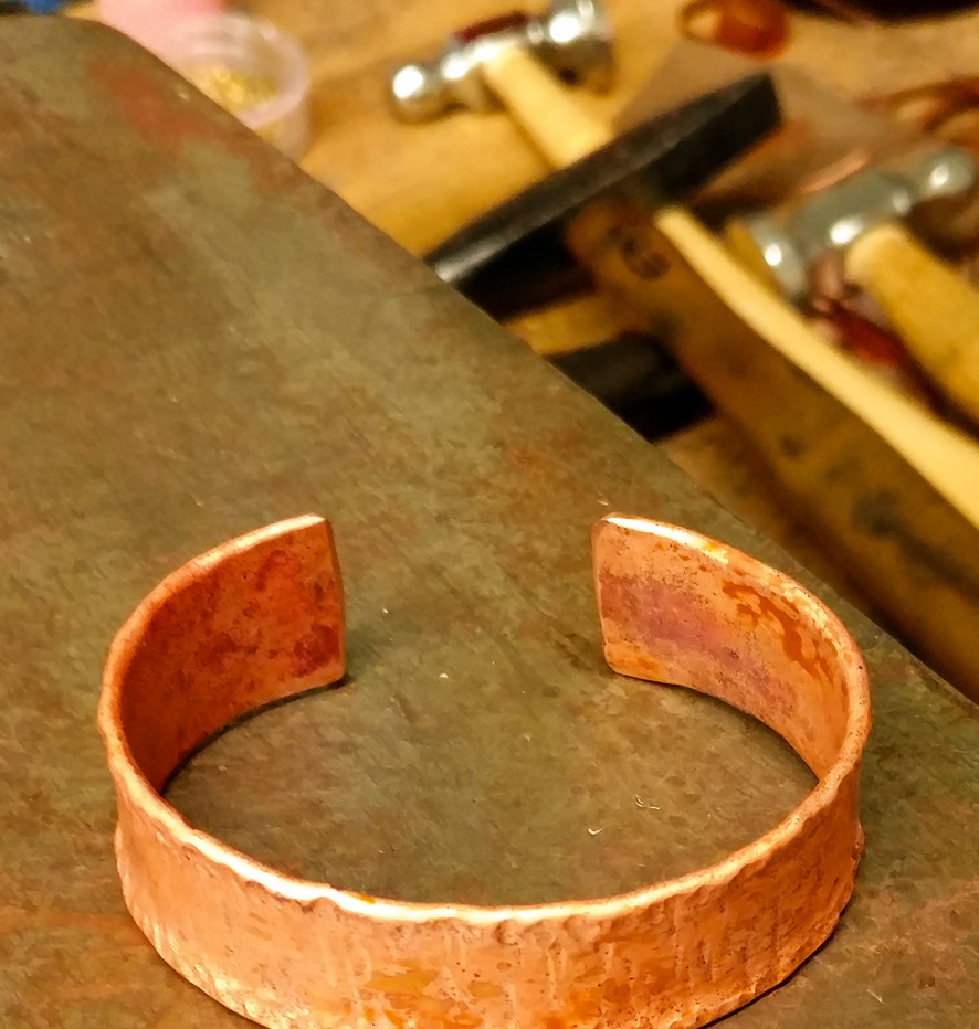Forged Copper Cuff    $45
