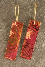 Forged Copper Earrings with Mixed Patina    $30