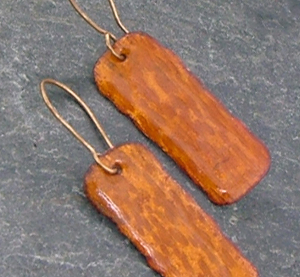 Enameled Copper Earrings    $30