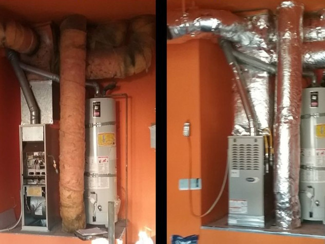 Before & After 80% Gas Furnace and Ductwork