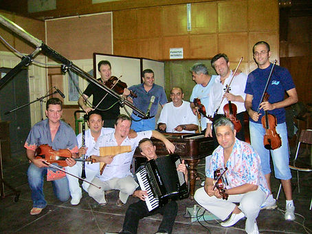 The band from my recording in Bucharest in the famous Electrecord studio. The album Inima de lautar Roar Engelberg