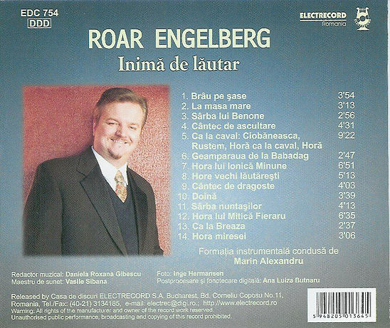 All the titles from my album, Inima d with the fantastic folk musiciens from Bucharest and Marian Alexandru  lautar,