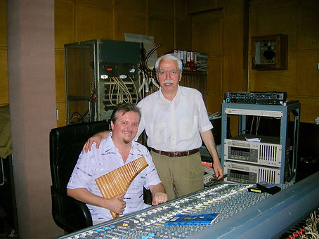 With the famous sound engineer Vasile Sibana at Electrecord studio in Bucharest