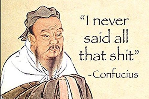 """I Never Said All That Shit"" - Confucius.... funny fridge magnet"