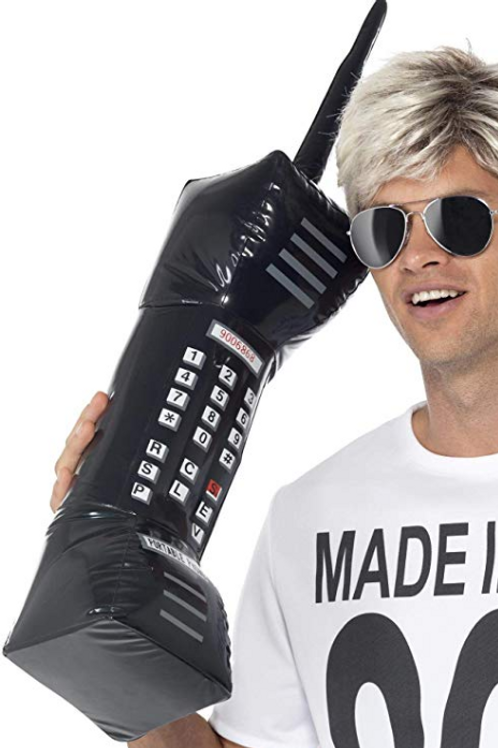 Smiffy's Men's Inflatable Retro Mobile Phone 30 Inches