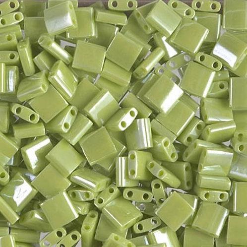 Miyuki Tila Beads 5mm - Opaque Chartreuse 10g