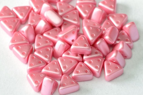Czech Emma Beads 3x6mm 3 Hole - Pastel Pink  10g