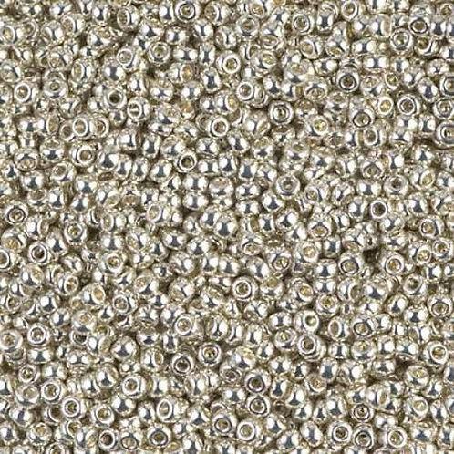 Miyuki Round Rocaille 15/0 - Galvanized Silver 8.2g
