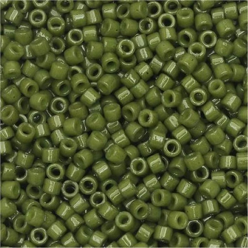 Miyuki Delica 11/0 - Duracoat Opaque Army Green