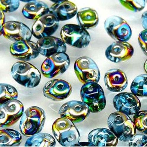Matubo Superduo Beads - Aqua Vitrail