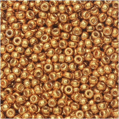 Miyuki Round Rocaille 11/0 - Duracoat Galvanized Yellow Gold