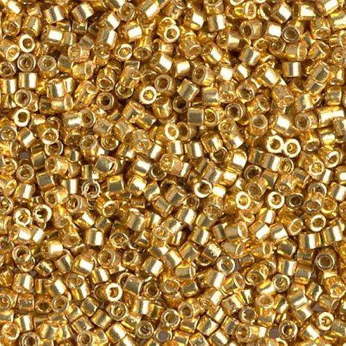 Miyuki Delica 10/0 - Duracoat Galvanized Gold 7.2g