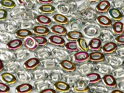 Czech One Beads 3.5x5mm - Crystal Vitrail 10g