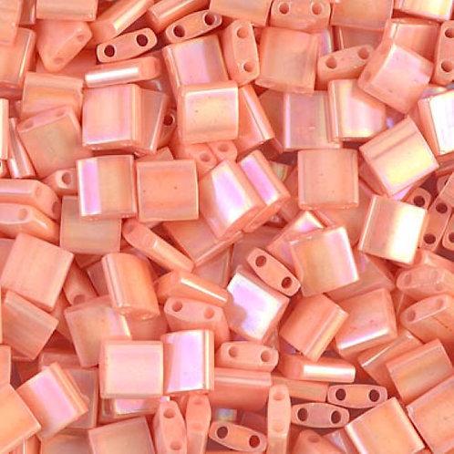 Miyuki Tila Beads 5mm - Semi Matte Opaque Salmon 10g TL596