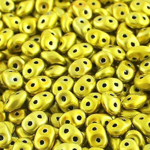 Matubo Superduo Beads - Metalust Yellow Gold